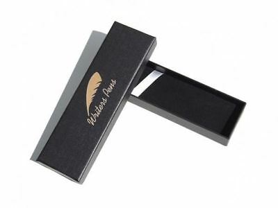 Pen Gift Box Black - Fits Any Pen - Padded Felt Lined Interior With Lift Lid NEW