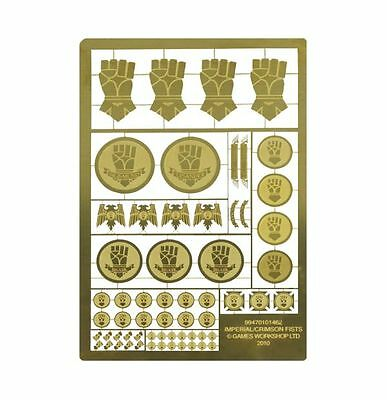 40k Forgeworld Imperial Crimson Fists Horus Heresy etched brass space marines