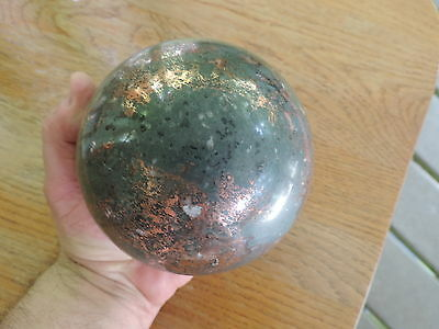 "739 ""Gladstone Ore"" natural copper in quartz/epidote host rock  sphere/ball"