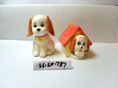 dog   kennel salt and pepper shakers