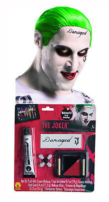 Suicide Squad The Joker Mens Costume Wig T-Shirt Make Up And Teeth Kit
