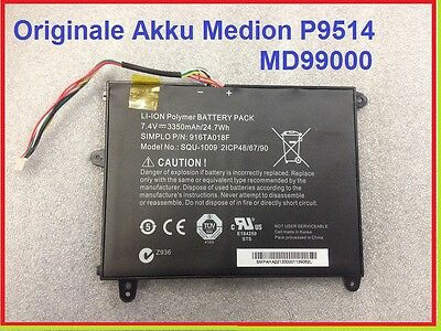 Originale Akku Medion Lifetab Tablet  P9514 MD99000 MD98052 Model SQU-1009