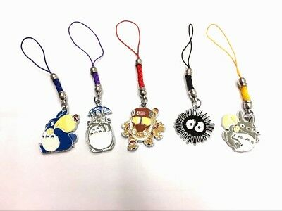 Totoro 5pcs Metal Keychain Gift Anime Collect Phone Strap Decor