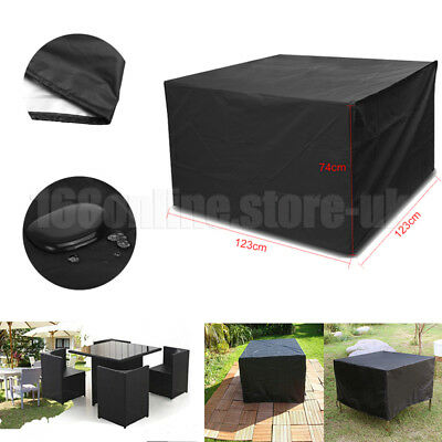 Garden Patio Furniture Set Cover Rattan Cube Table Chair Cover Square Waterproof