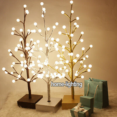 Battery Powered LED Tree Light Pre Lighted Freestanding with 48pcs Globe Balls