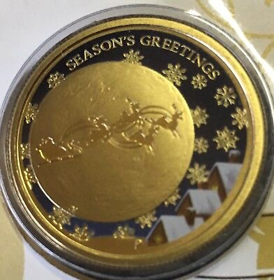 AUSTRALIAN $1 Coin & Stamp PNC 2014 Uncirculated Christmas Dollar Coin Unc