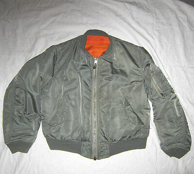 Original US-Air Force MIL-J-8279E Fliegerjacke MA-1 Size Medium Bomberjacke 1973