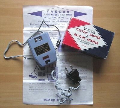 Vintage YAECON YEC-60 Electric Adapter Battery Charger Ladegerät Netzteil OVP