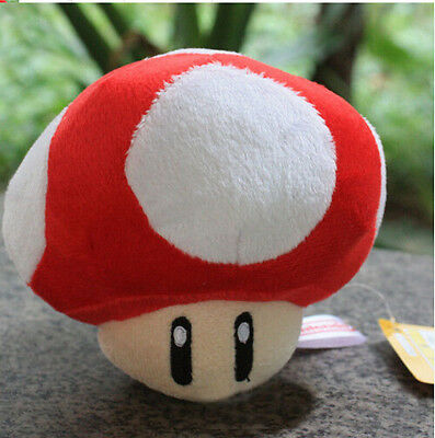 2in Super Mario Bros Mushroom Soft Plush Keychain Animal Kid Gift Doll