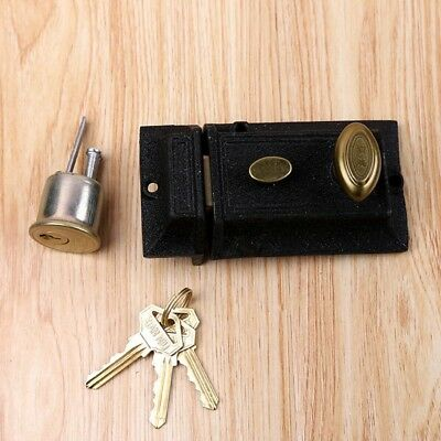 Front Door Lock Nightlatch Rim Type Cylinder Standard Night Latch Set