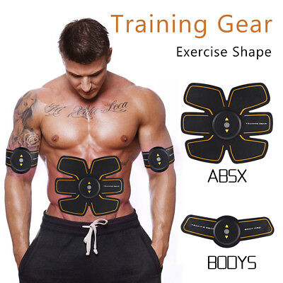 EMS Muscle Fit Training Gear Abdominal Body Gym Fitness Massage Exercise Shape