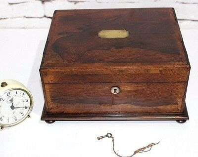 Antique Victorian Rosewood Jewellery Sewing Box - FREE Shipping [PL3892]