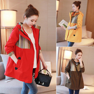 Hoodie Coat Jacket Maternity Peacoat Pnocho Outwear Windproof Cute 8 10 12 14 16