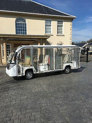 12 seater Electric shuttle bus with wheelchair ramp all weather side screens