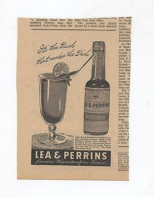 Lea & Perrins Worcestershire Sauce Advertisement from 1948 Australian Newspaper