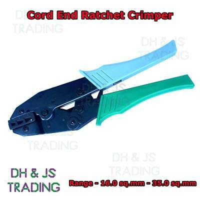 Heavy Duty Ratchet Crimpers For Cord End Terminals Bootlace 16.0mm² - 35.0mm²