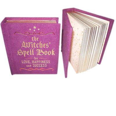 Mini Hardback Witches Spell Book for Love,Happiness & Success Wicca Halloween