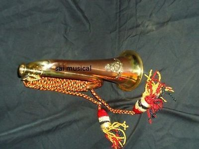 """Indian Bugle Bugles_W/case""""mp_Cord,batch Awesome Manufacturer Trumpets"""