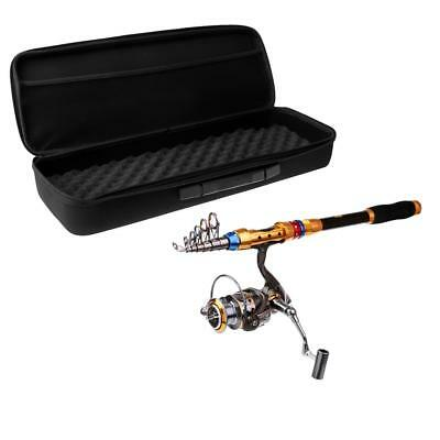 Telescopic Fishing Rod and Reel Combo Travel Spinning Reel Pole Kit with Bag