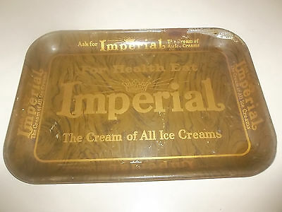 Vintage Imperial Ice Cream Metal Tray