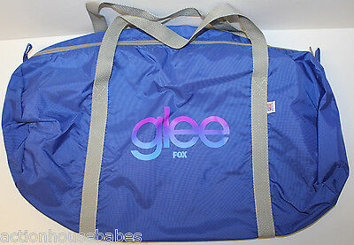 GLEE - FOX TV Series PROMO Duffle Bag - Blue with Grey Straps - NEW