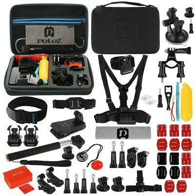 Puluz GoPro Hero 6 5 4 3+ Fusion Session Action Cam 53 in 1 Mount Kit Accessory
