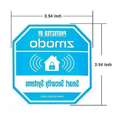 Zmodo 4 Pack Octagon-Shaped Warning Video Surveillance Sign, Home Security Door