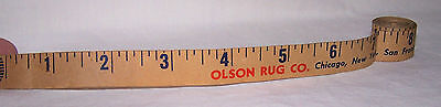 1950 Olson Rug Paper Tape Measure-Custom Floor Area Rugs-Chicago-Ny-Decorate