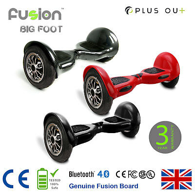 """Original 10"""" Fusion Electric Scooter Swegway Hover Board Self Balance Bluetooth"""