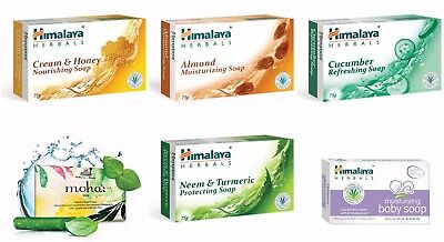 Himalaya Herbals Variety Of Natural Soaps With Aloe Vera Almond Neem Basil Curcu