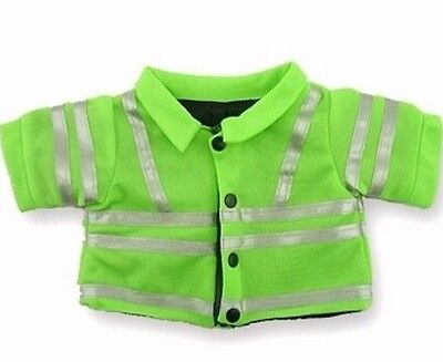 Teddy Bear Clothes fits Build a Bear Hi Viz JACKET Construction Police Clothing