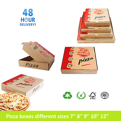 "Pizza Boxes, Takeaway Pizza Cake Strong Quality Postal Boxes Brown 7"" - 16"" inch"