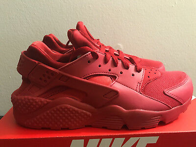 Mens Nike Air Huarache Triple Red Running Sneakers 318429-660 Ds, 100% Authentic
