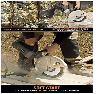 Evolution Power Disc Cutter Perfect Electric Tool For Concrete new Xmas Gift