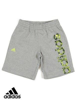 adidas Junior Boys Kids Shorts Grey training Gym Sports BNWT free deliver S22605