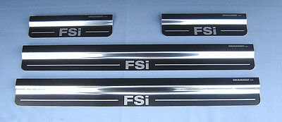 VW Golf FSi Mk5 Stainless Kick Plates Sill Protector Trims