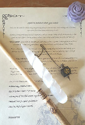 WICCAN/PAGAN-  WISH ritual for Book of shadows