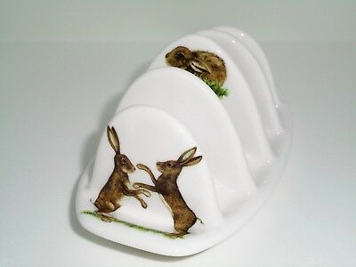 BN Fine Bone China Boxing Hares Toast Rack, Hare Gift, China Toast Rack, Gift