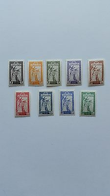 Transjordan stamps. Independence 1946. Mint, unused, never hinged. Two sets.