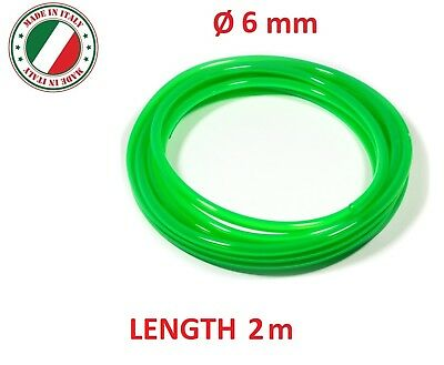 "Universal Fuel Hose 6Mm 1/4"""" 2M Motorcycle Tube Line Pipe Petrol Gas Quad Green"