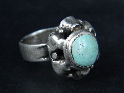 Ancient Silver Ring With Stone Post Medieval 1800 AD   #STC290