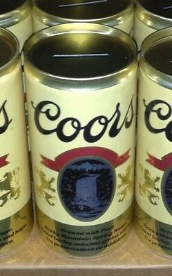 Coors Banquet Beer Cans Coin Banks - Lot of 2 Man Cave Party Bar