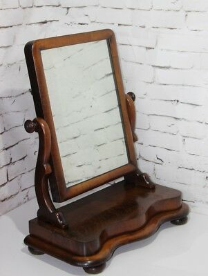 Antique Victorian Walnut Dressing Table Mirror - FREE Shipping [PL3895]