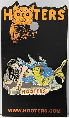 Hooters Restaurant Collectable Yellow-Finned Mermaid Drifting Along Lapel Pin