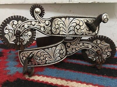 Tom Mix Style Inlaid Spurs
