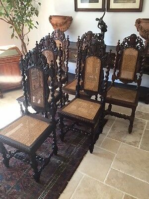 A Set of Six 19th Century Hunting Chairs