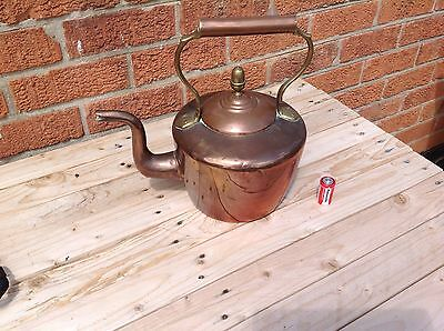 Vintage Large Copper  & Brass Kettle.....