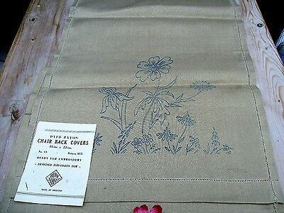 Vintage RAYON Chair backs ready to embroider