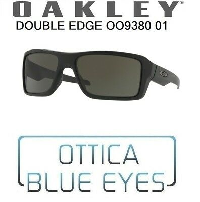 bae3747210 Occhiali OAKLEY DOUBLE EDGE OO 9380 01 Sunglasses 938001 MATTE BLACK DARK  GREY