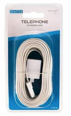 10M Landline BT Telephone Extension Cable Lead for Fax Phone Modem Broadband